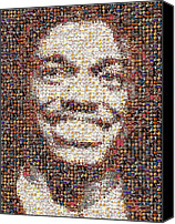 Redskins Canvas Prints - RG3 Redskins History Mosaic Canvas Print by Paul Van Scott