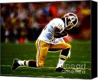 Redskins Canvas Prints - RG3 - Tebowing Canvas Print by Paul Ward