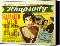 Fid Canvas Prints - Rhapsody, Elizabeth Taylor, 1954 Canvas Print by Everett