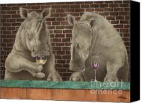Winery Canvas Prints - Rhine Tasting... Canvas Print by Will Bullas