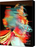 Pow Wow Canvas Prints - Rhythm Of Dance Canvas Print by Joy Tudor