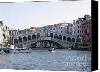 Pont Canvas Prints - Rialto. Venice Canvas Print by Bernard Jaubert
