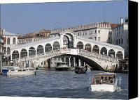 Pont Canvas Prints - Rialto.venice Canvas Print by Bernard Jaubert