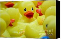 Fun Fair Canvas Prints - Ribber Ducky Canvas Print by Patty Vicknair