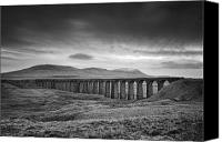 Mono Canvas Prints - Ribblehead Viaduct Uk Canvas Print by Ian Barber