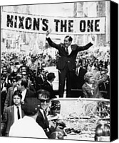 Campaign Canvas Prints - Richard Nixon. Us Presidential Canvas Print by Everett