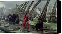Ships Painting Canvas Prints - Richelieu Canvas Print by Henri-Paul Motte