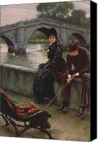 Tissot Canvas Prints - Richmond Bridge Canvas Print by James Jacques Joseph Tissot