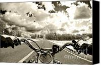 Ride Canvas Prints - Ride Free Canvas Print by Micah May