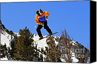 Snowboarder Canvas Prints - Ride Utah Canvas Print by Christine Till