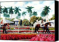 Pdjf Canvas Prints - Riders up at Gulfstream Canvas Print by Thomas Allen Pauly