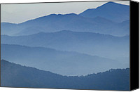 Gatlinburg Canvas Prints - Ridgelines Great Smoky Mountains Canvas Print by Rich Franco