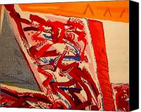 Transportation Tapestries - Textiles Canvas Prints - Riding the D Train Canvas Print by Dick Sauer