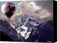 Baloons Canvas Prints - Riding The Tetons Canvas Print by Bill Stephens