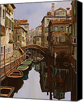 Venice Canvas Prints - Riflesso Scuro Canvas Print by Guido Borelli