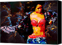 Anibal Diaz Canvas Prints - Rihanna Abstract by GBS Canvas Print by Anibal Diaz