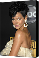 Nokia Theatre Canvas Prints - Rihanna At Arrivals For 2008 American Canvas Print by Everett