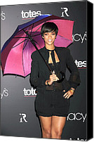 Black Tie Canvas Prints - Rihanna Wearing Matthew Williamson Canvas Print by Everett
