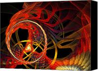 Fine Art Fractal Art Canvas Prints - Ring of Fire Canvas Print by Andee Photography