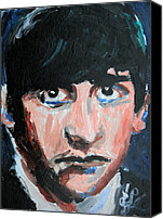 Jon Baldwin Art Canvas Prints - Ringo Starr  Canvas Print by Jon Baldwin  Art
