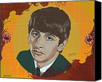 Richard Starkey Canvas Prints - Ringo Starr Canvas Print by Suzanne Gee