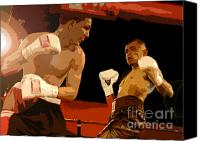 Athletic Digital Art Canvas Prints - Ringside Canvas Print by David Lee Thompson