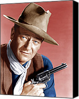 Cowboy Hat Canvas Prints - Rio Bravo, John Wayne, 1959 Canvas Print by Everett