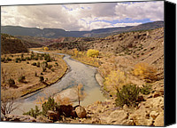 Chama River Canvas Prints - Rio Chama In Autumn New Mexico Canvas Print by Tim Fitzharris