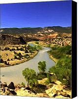 Chama River Canvas Prints - Rio Chama River Canvas Print by Lou  Novick