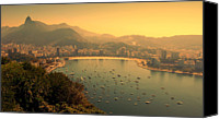 Mountains Canvas Prints - Rio De Janeiro Cityscape Canvas Print by Renata Souza e Souza