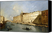 Gondoliers Canvas Prints - Rio dei Mendicanti Canvas Print by Francesco Guardi