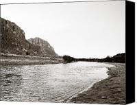 Big Bend Canvas Prints - Rio Grand Big Bend  Park Monochrome Canvas Print by M K  Miller