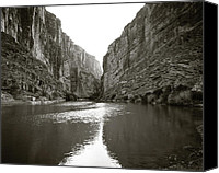 Big Bend Canvas Prints - Rio Grand River Southern Tip of Big Bend Canvas Print by M K  Miller