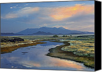 Sangre De Cristo Mountains Canvas Prints - Rio Grande And Sangre De Cristo Canvas Print by Tim Fitzharris