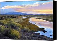 Sangre De Cristo Mountains Canvas Prints - Rio Grande And The Sangre De Cristo Canvas Print by Tim Fitzharris