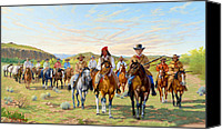 Texas Rangers Canvas Prints - Rip Fords Dps 1850 Canvas Print by Howard Dubois