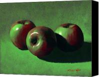 Food Tapestries Textiles Canvas Prints - Ripe Apples Canvas Print by Frank Wilson