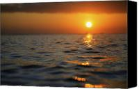 Brandon Tabiolo Canvas Prints - Rippled Sunset Canvas Print by Brandon Tabiolo - Printscapes