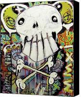 Neo Expressionism Canvas Prints - Rise Above Canvas Print by Robert Wolverton Jr