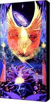 Mystical Canvas Prints - Rise of the Phoenix 2 Canvas Print by Anne Cameron Cutri