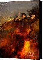 Flames Canvas Prints - Rise Canvas Print by Silas Toball