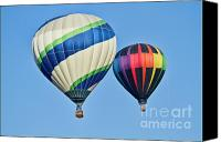 Hot Air Canvas Prints - Rising High Canvas Print by Arthur Bohlmann