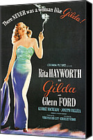 1946 Movies Canvas Prints - Rita Hayworth as Gilda Canvas Print by Nomad Art and  Design
