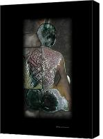 Women Ceramics Canvas Prints - Ritual Transformation Canvas Print by Bates Clark