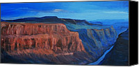 Rafael Gonzales Canvas Prints - River at Grand Canyon Canvas Print by Rafael Gonzales