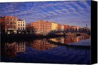 Walked Canvas Prints - River Liffey And Halfpenny, Bridge Canvas Print by The Irish Image Collection