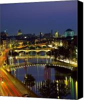 White River Scene Canvas Prints - River Liffey Bridges, Dublin, Ireland Canvas Print by The Irish Image Collection