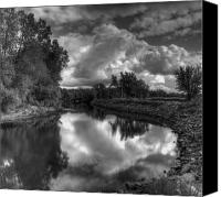 River In Black And White High Dynamic Range Canvas Prints - River of Dreams Canvas Print by Thomas Young