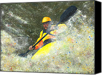 White Pastels Canvas Prints - River Runner Canvas Print by Garry McMichael