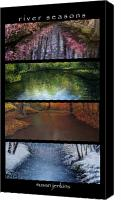 Summer Pastels Canvas Prints - River Seasons Canvas Print by Susan Jenkins